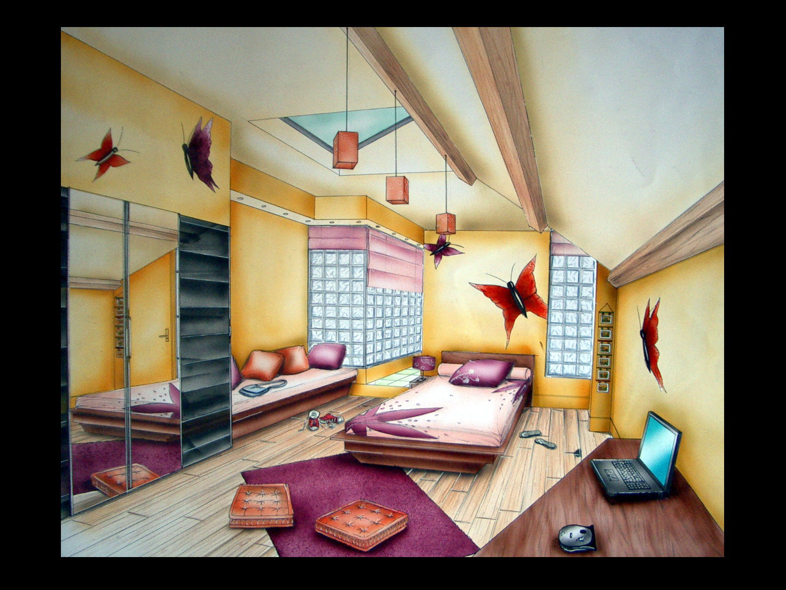 Best Chambre With Chambre Perspective Dessin
